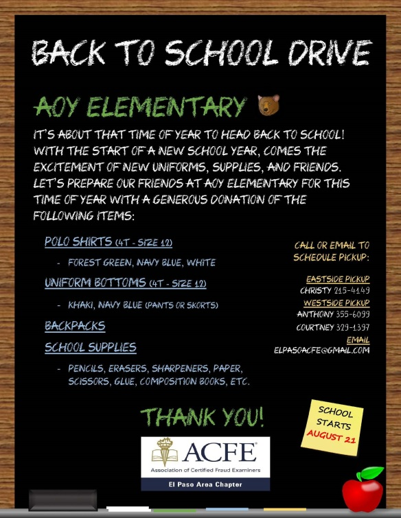 Aoy Elementary_Back to School Drive