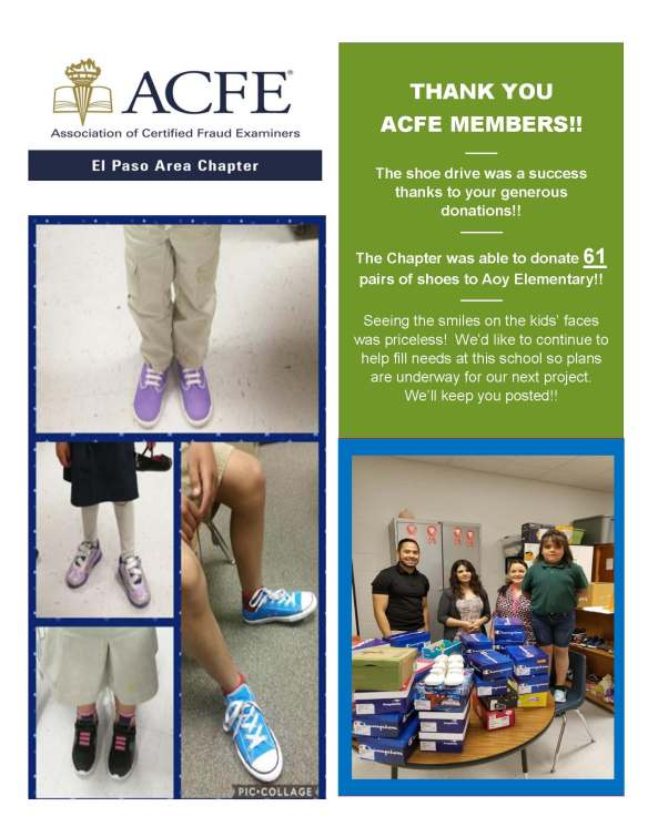Shoe Drive Flyer - Thank You